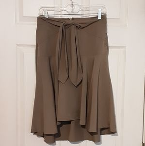 HD in Paris tie front skirt high low hem. Size 8.